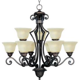 Maxim Lighting 11245SVOI Symphony - Nine Light Chandelier