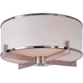 Maxim Lighting 12050WTSN Nexus - Three Light Flush Mount