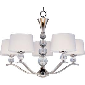 Maxim Lighting 12755WTPN Rondo - Five Light Chandelier