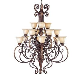 Maxim Lighting 13567CFAF/CRY081 Augusta - Fifteen Light 3-Tier Chandelier
