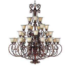 Maxim Lighting 13569CFAF/CRY091 Augusta - Twenty-Seven Light 4-Tier Chandelier