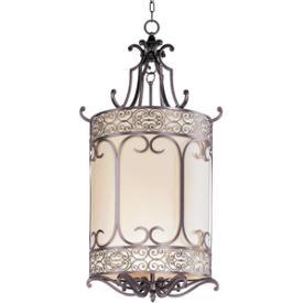 Maxim Lighting 21158WHUB Mondrian - Three Light Foyer Pendant