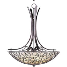 Maxim Lighting 21344DWUB Meridian - Four Light Inverted Bowl Pendant