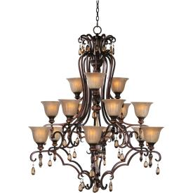 Maxim Lighting 22268EMFL Dresden - Fifteen Light 3-Tier Chandelier