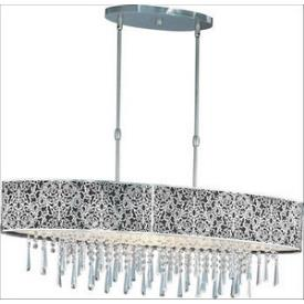 Maxim Lighting 22296BKSN Rapture - Nine Light Pendant