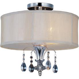 Maxim Lighting 24301CLBSPN Montgomery - Three Light Semi-Flush Mount