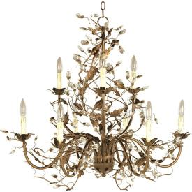 Maxim Lighting 2852 Elegante - Nine Light 2-Tier Chandelier