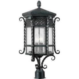 Maxim Lighting 30121CDCF 3 Light Post