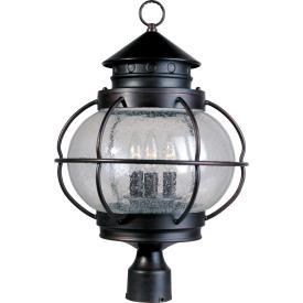 Maxim Lighting 30501 Portsmouth - Three Light Outdoor Pole/Post Mount