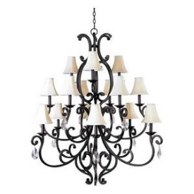 Maxim Lighting 31007 Richmond - Fifteen Light 3-Tier Chandelier