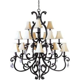 Maxim Lighting 31007CU/CRY085/SHD62 Richmond - Fifteen Light 3-Tier Chandelier