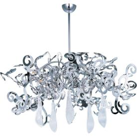 Maxim Lighting 39844PN/CRY151 Tempest - Eight Light Chandelier
