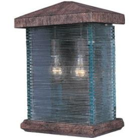 Maxim Lighting 48734CLET Triumph Vx 2-light Outdoor Wall Lantern