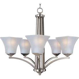 Maxim Lighting 83095FTSN Aurora ES -Five Light Chandelier
