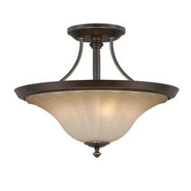 Quoizel Lighting ALZ1718PN Aliza - Three Light Semi-Flush Mount