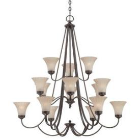 Quoizel Lighting ALZ5015PN Aliza - Fifteen Light 3-Tier Chandelier