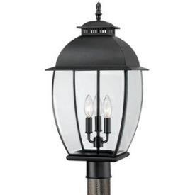 Quoizel Lighting BAN9011K Bain - Three Light Post