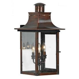 Quoizel Lighting CM8412AC Chalmers - Three Light Wall Lantern