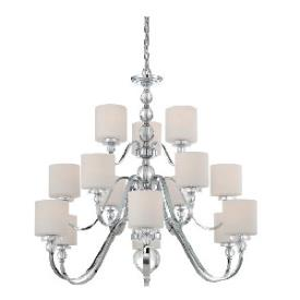 Quoizel Lighting DW5015C Downtown - Fifteen Light 3-Tier Chandelier