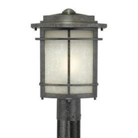 Quoizel Lighting GLN9010IB Galen - One Light Outdoor Post Lantern
