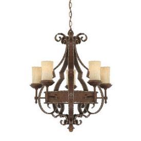 Quoizel Lighting LR5005RZ Laredo - Five Light Chandelier