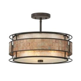 Quoizel Lighting MC842SRC Mica - Three Light Large Semi-Flush Mount