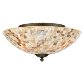 Quoizel Lighting MY1613ML Monterey Mosaic - Three Light Flush Mount
