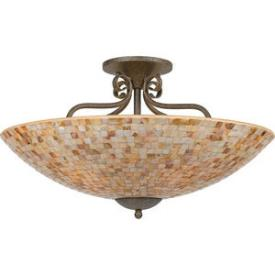 Quoizel Lighting MY1723 Monterey Mosaic - Five Light Semi-Flush Mount