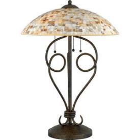 Quoizel Lighting MY6325 Monterey Mosaic - Three Light Table Lamp