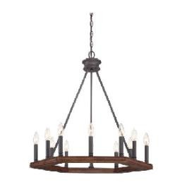 Quoizel Lighting PTN5012DK Plantation - Twelve Light Pendant