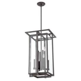 Quoizel Lighting QF1397RWT Farrow - Eight Light Cage Chandelier