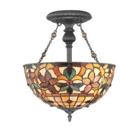 Quoizel Lighting TF878SVB Kami - Two Light Semi-Flush Mount