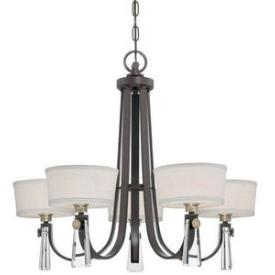 Quoizel Lighting UPBY5005WT Bowery - Five Light Chandelier