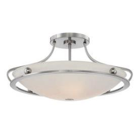 Quoizel Lighting UPWS1722BN Wall Street - Four Light Semi-Flush Mount