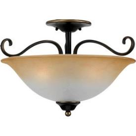 Quoizel Lighting DH1718PN Duchess - Three Light Medium Semi Flush Mount