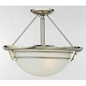 Quoizel Lighting NA1716BN New England - Three Light Large Semi Flush Mount