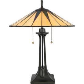 Quoizel Lighting TF6668VB Gotham - Two Light Table Lamp