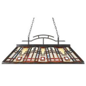 Quoizel Lighting TFCC348VA Classic Craftsman - Three Light Island Chandelier